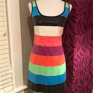 Lilly Pulitzer Lucy multicolor stripe sequin dress
